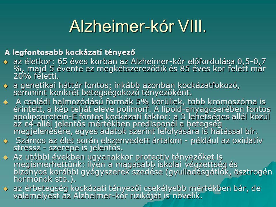 Alzheimer-kór VIII. A legfontosabb kockázati tényező.