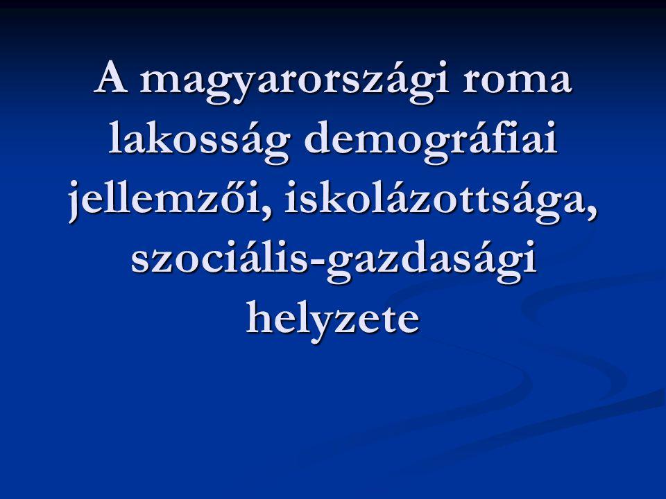 A magyarországi roma lakosság demográfiai jellemzői, iskolázottsága, szociális-gazdasági helyzete