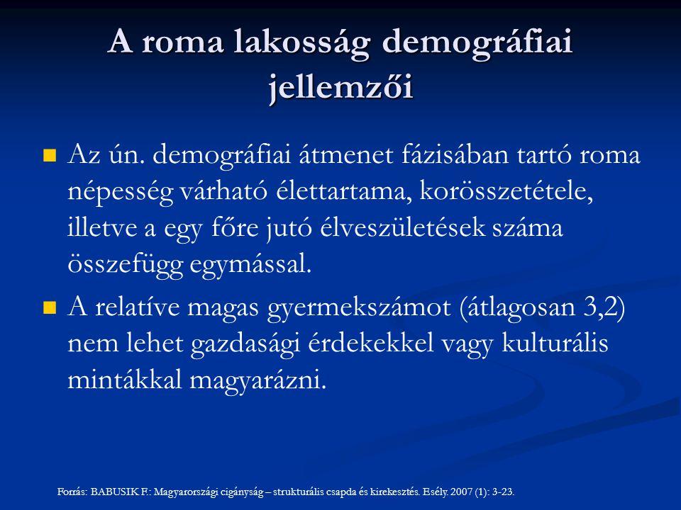 A roma lakosság demográfiai jellemzői