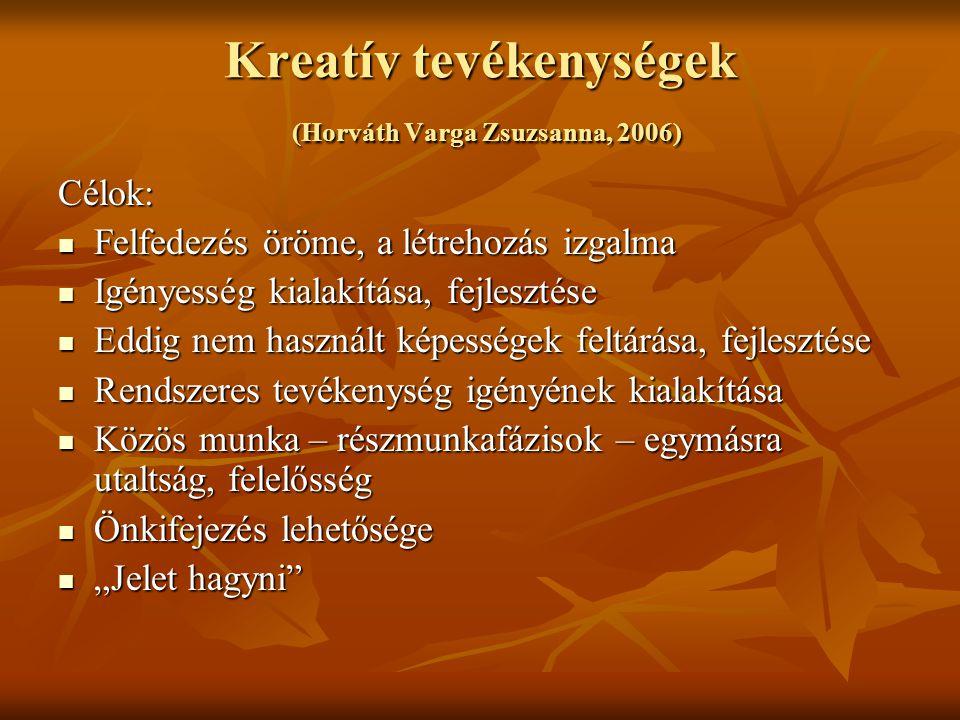 Kreatív tevékenységek (Horváth Varga Zsuzsanna, 2006)