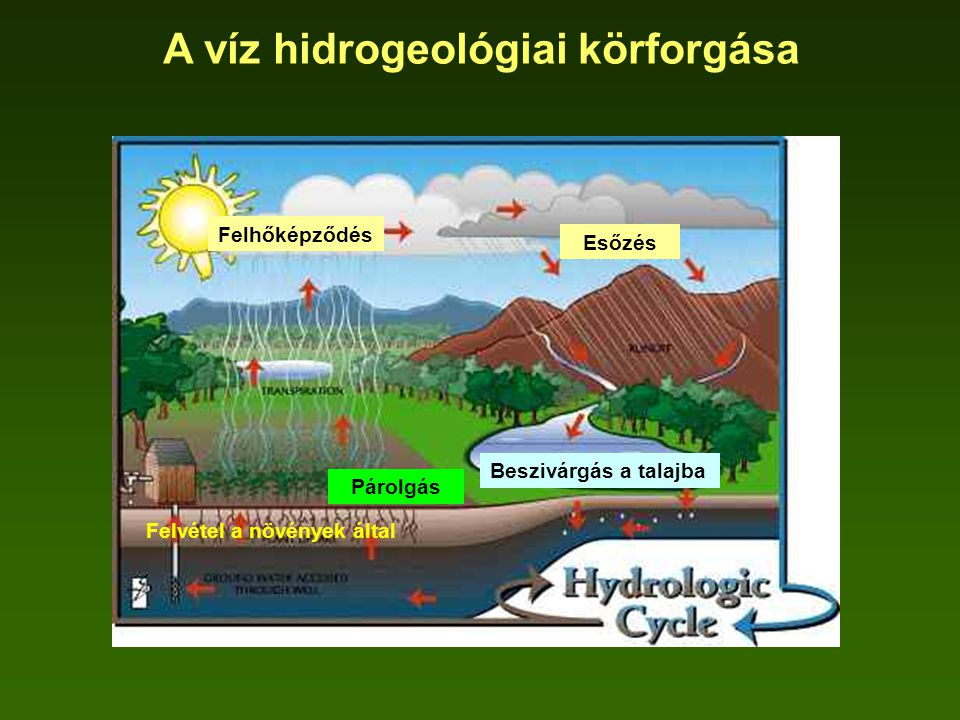 A víz hidrogeológiai körforgása