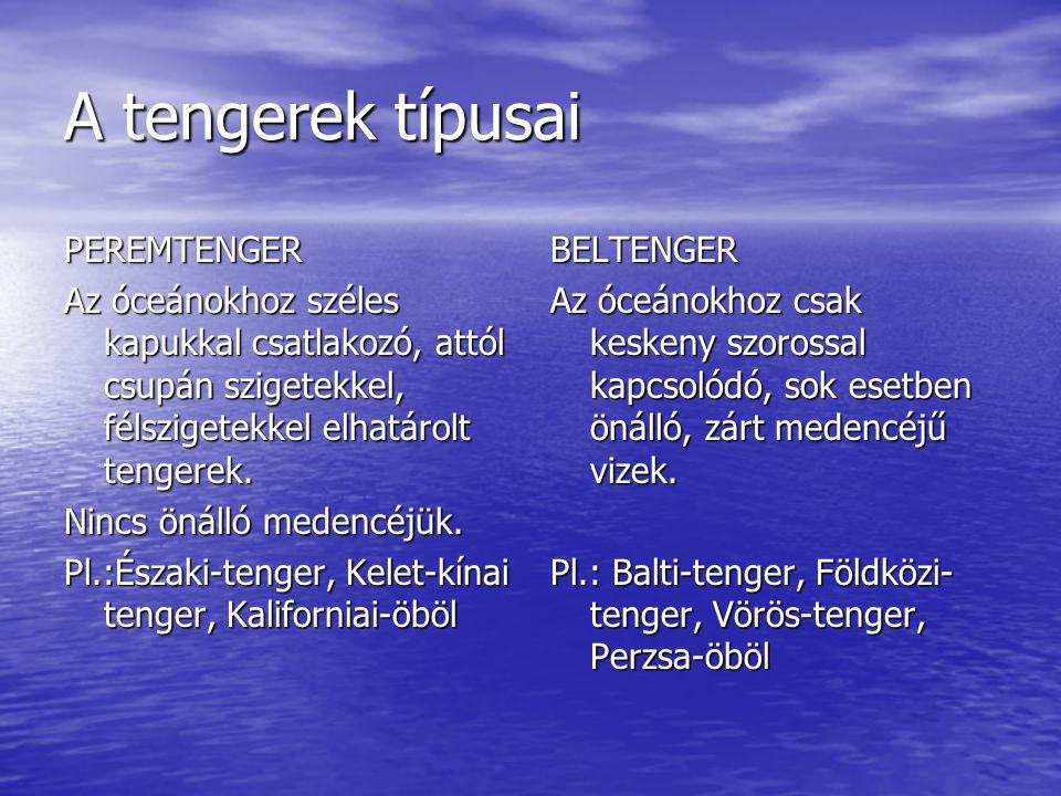 A tengerek típusai PEREMTENGER