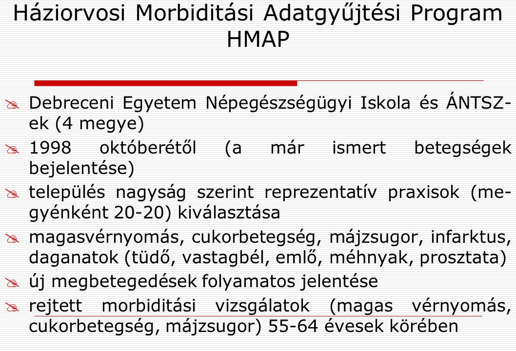 Háziorvosi Morbiditási Adatgyűjtési Program HMAP