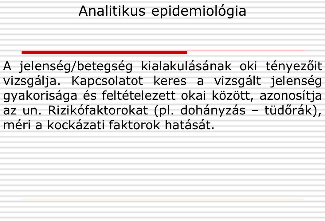 Analitikus epidemiológia