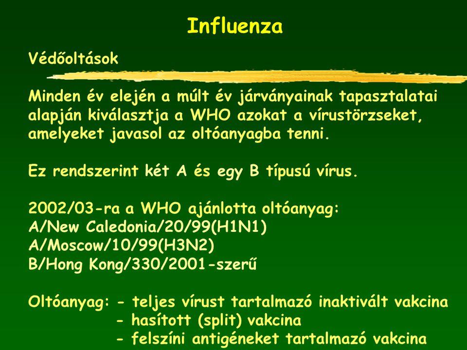 Influenza Védőoltások