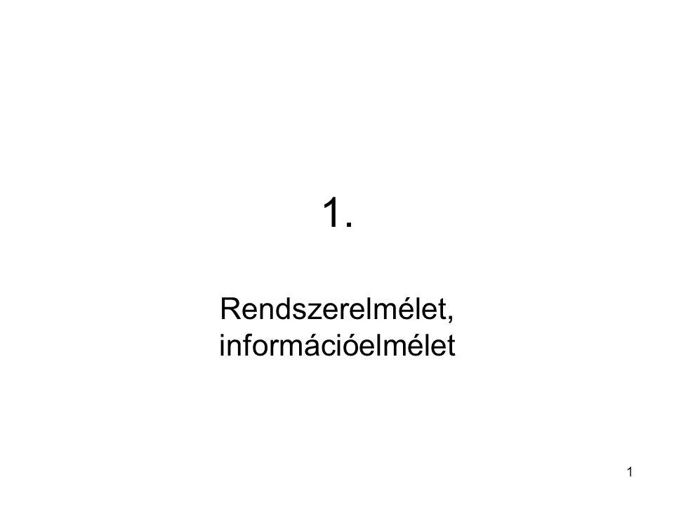 Rendszerelmélet, információelmélet