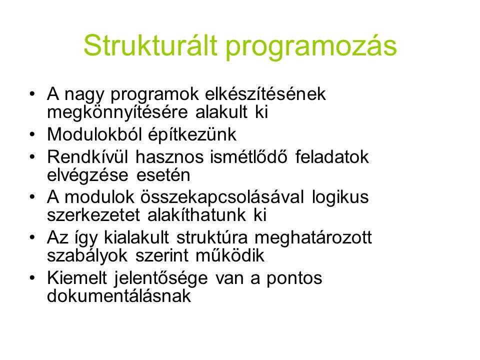 Strukturált programozás