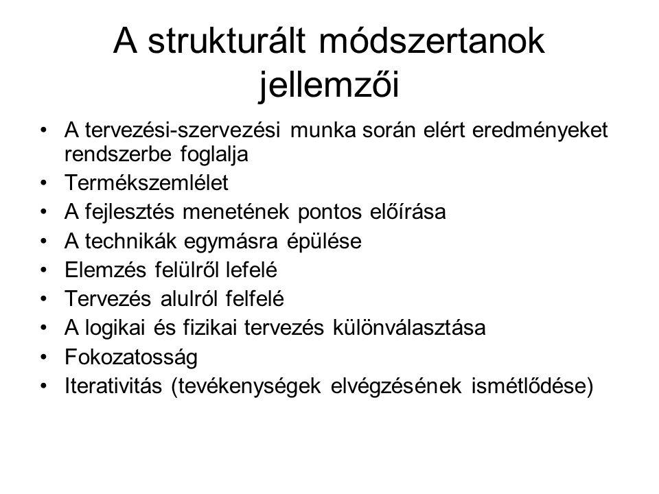 A strukturált módszertanok jellemzői