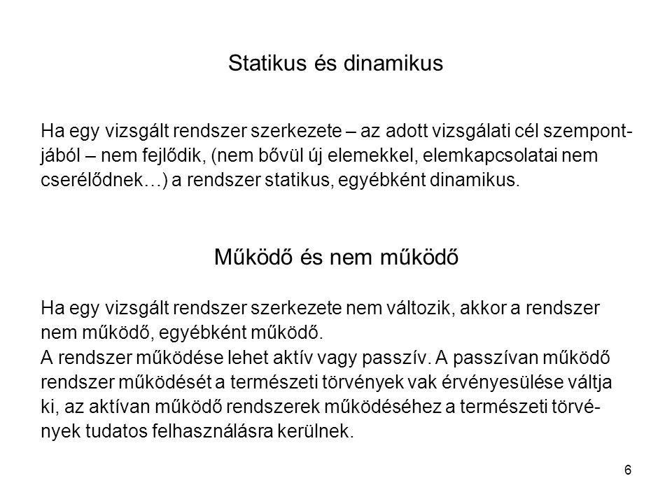 Statikus és dinamikus Működő és nem működő