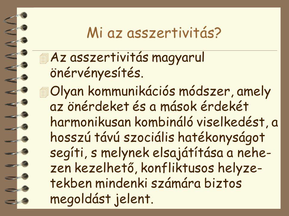 Mi az asszertivitás Az asszertivitás magyarul önérvényesítés.