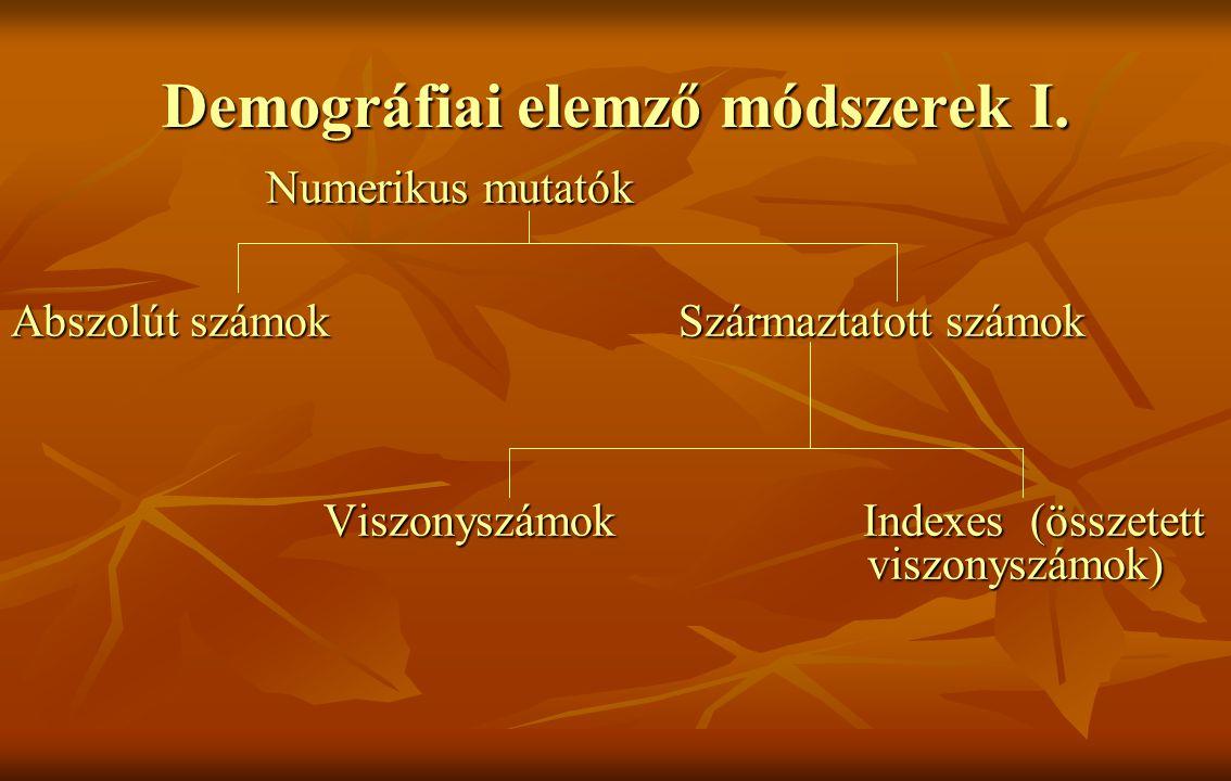 Demográfiai elemző módszerek I.