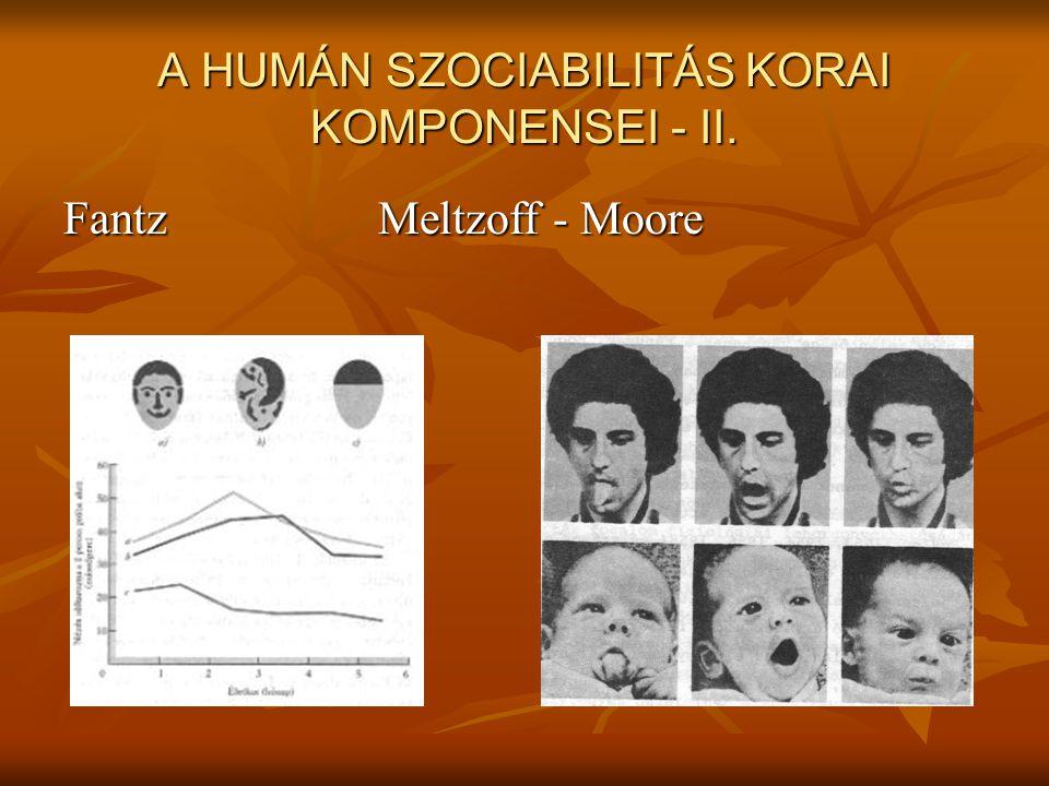 A HUMÁN SZOCIABILITÁS KORAI KOMPONENSEI - II.
