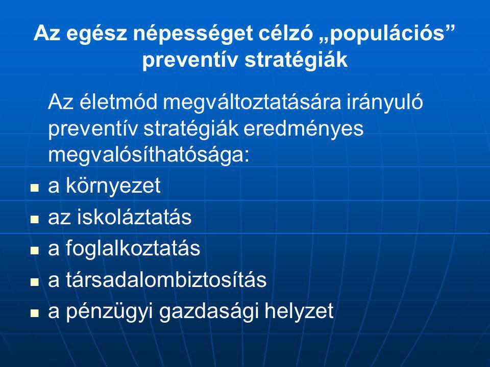 """Az egész népességet célzó """"populációs preventív stratégiák"""