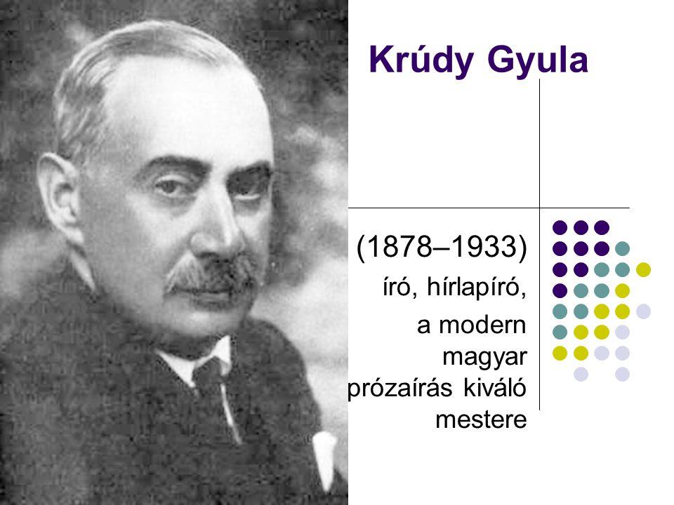 (1878–1933) író, hírlapíró, a modern magyar prózaírás kiváló mestere