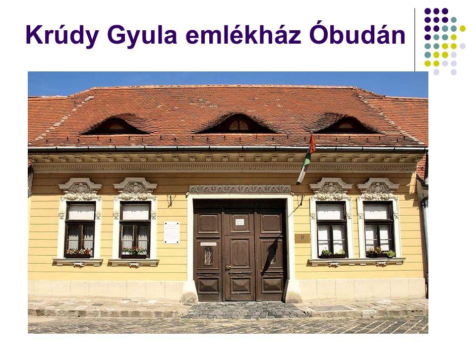 Krúdy Gyula emlékház Óbudán