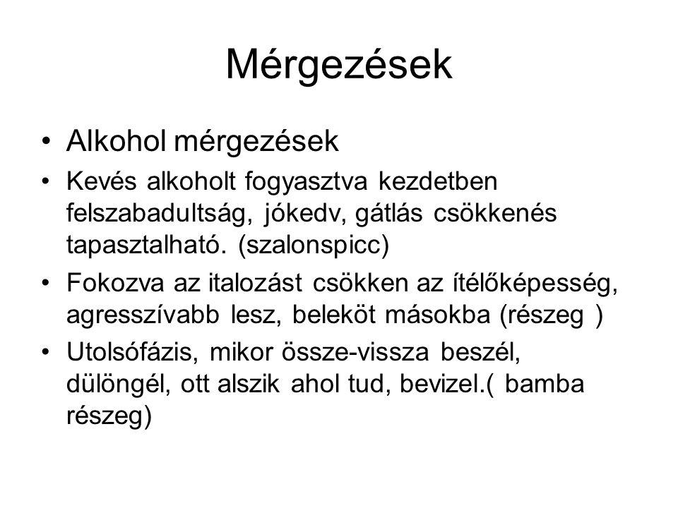 Mérgezések Alkohol mérgezések