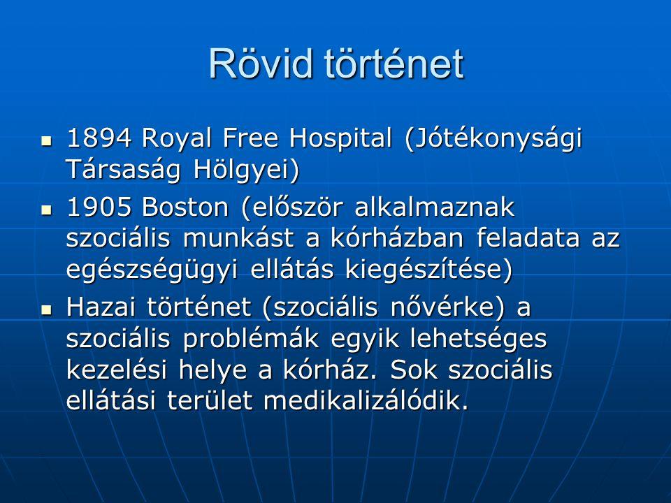 Rövid történet 1894 Royal Free Hospital (Jótékonysági Társaság Hölgyei)