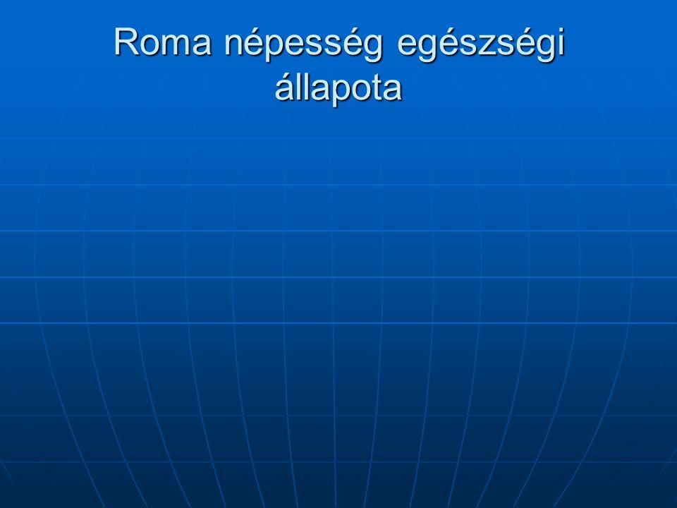 Roma népesség egészségi állapota