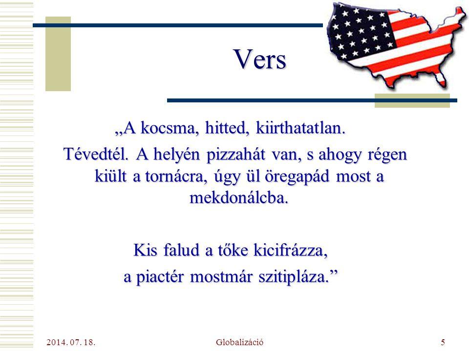 """Vers """"A kocsma, hitted, kiirthatatlan."""