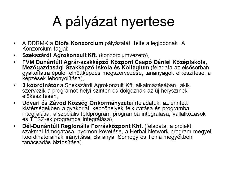 A pályázat nyertese A DDRMK a Diófa Konzorcium pályázatát ítélte a legjobbnak. A Konzorcium tagjai: