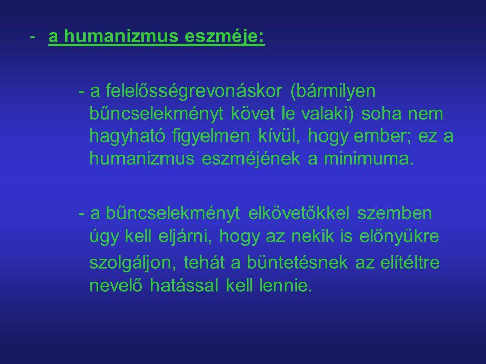 a humanizmus eszméje: