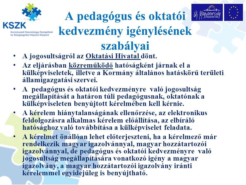 A pedagógus és oktatói kedvezmény igénylésének szabályai