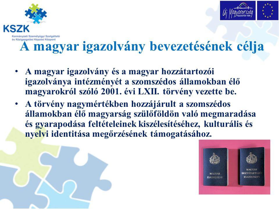 A magyar igazolvány bevezetésének célja
