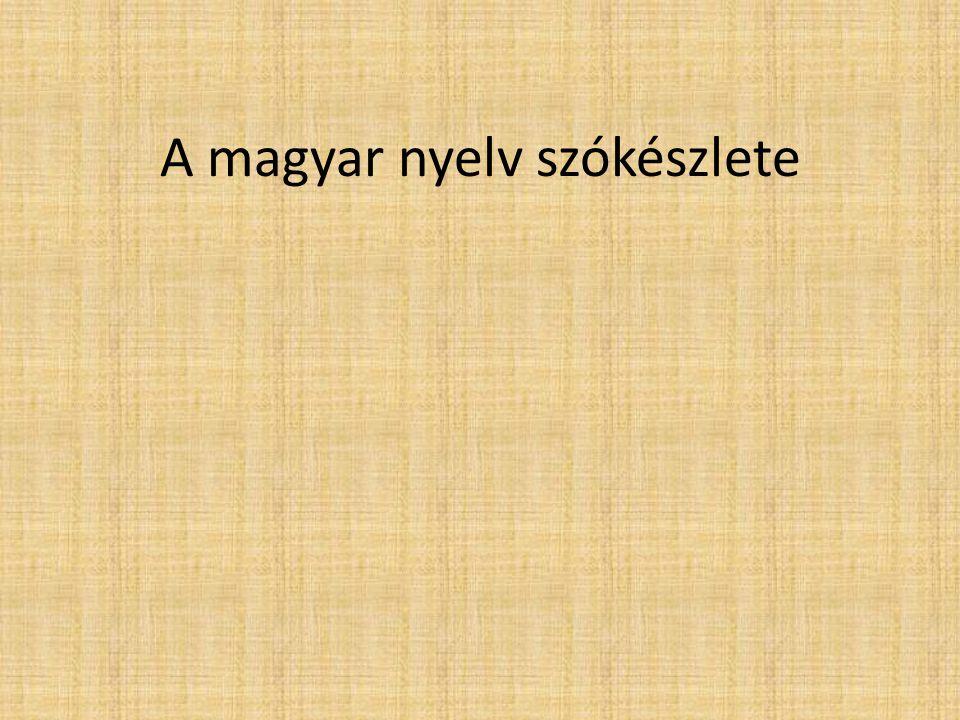 A magyar nyelv szókészlete