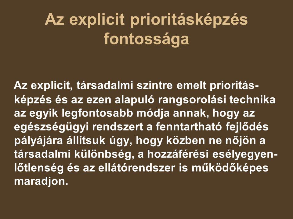 Az explicit prioritásképzés fontossága