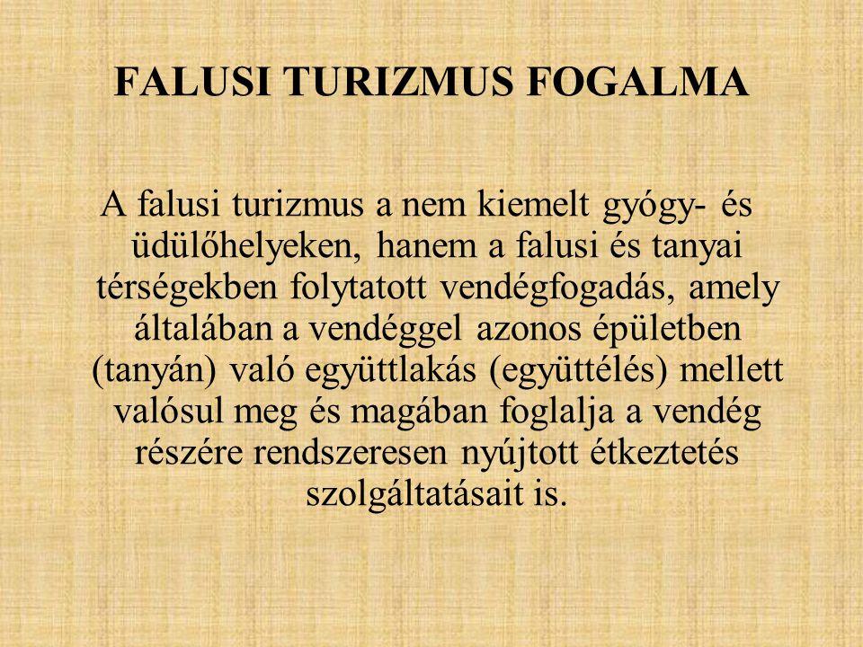 FALUSI TURIZMUS FOGALMA