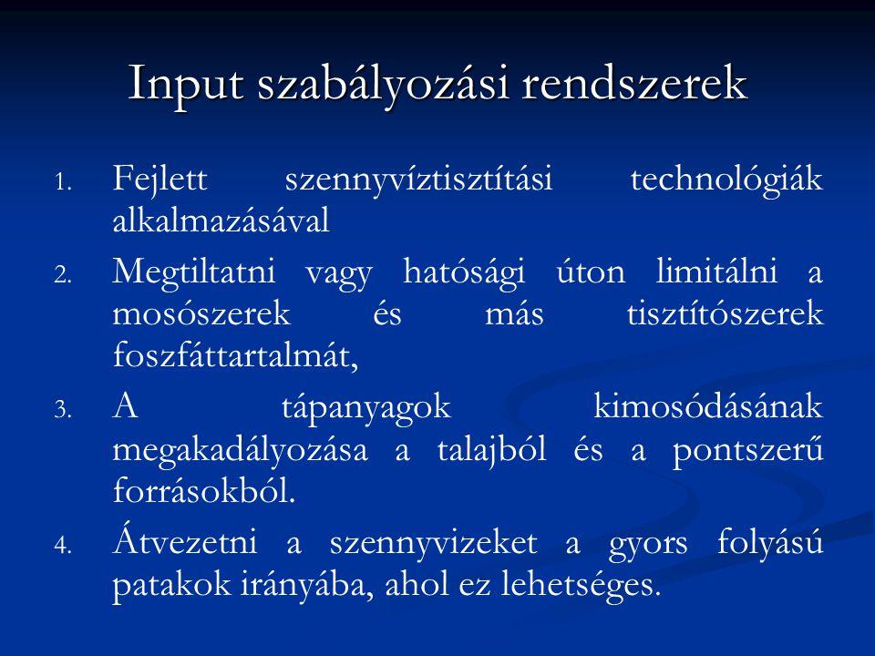Input szabályozási rendszerek