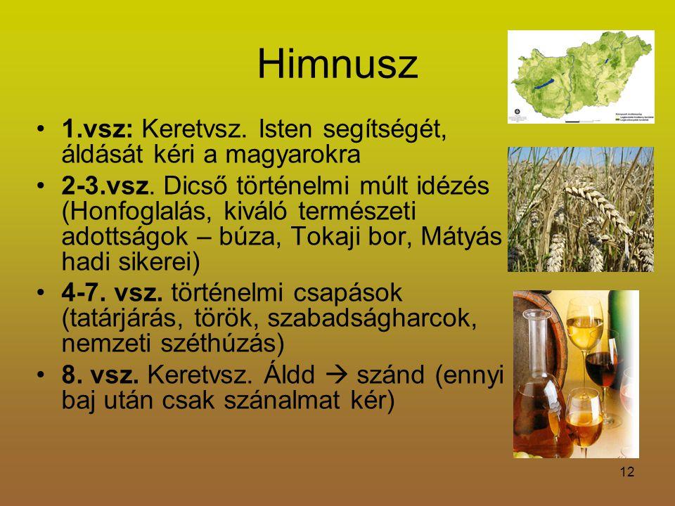 Himnusz 1.vsz: Keretvsz. Isten segítségét, áldását kéri a magyarokra