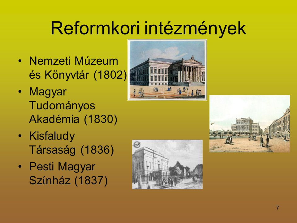 Reformkori intézmények