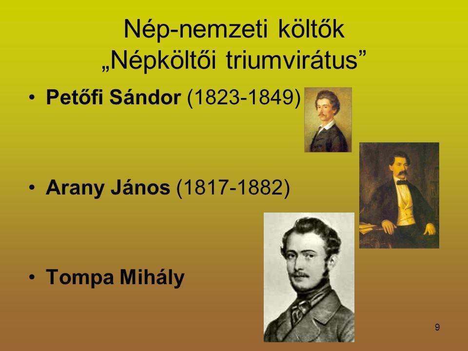 """Nép-nemzeti költők """"Népköltői triumvirátus"""