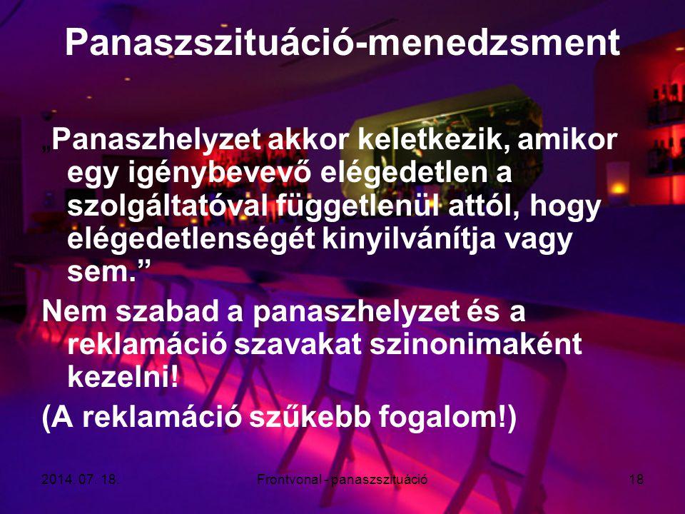 Panaszszituáció-menedzsment