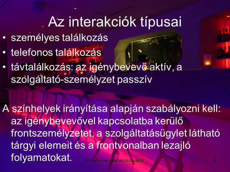Az interakciók típusai
