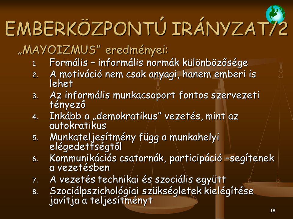 EMBERKÖZPONTÚ IRÁNYZAT/2