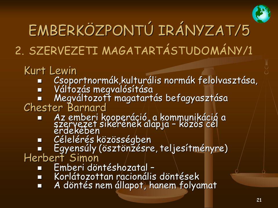EMBERKÖZPONTÚ IRÁNYZAT/5