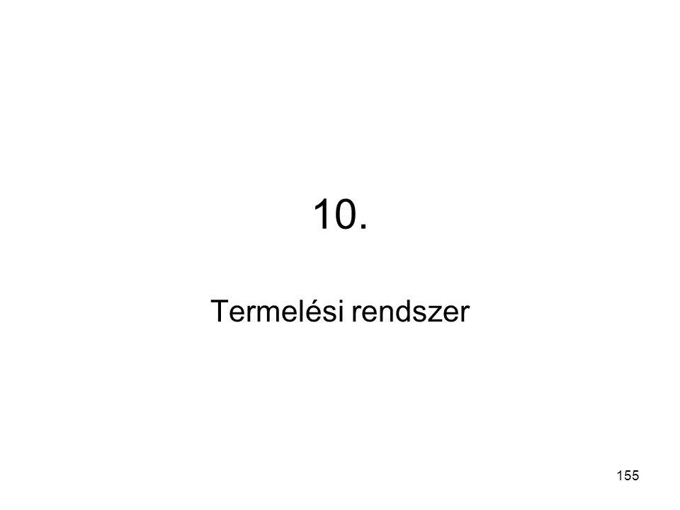 10. Termelési rendszer 155 155