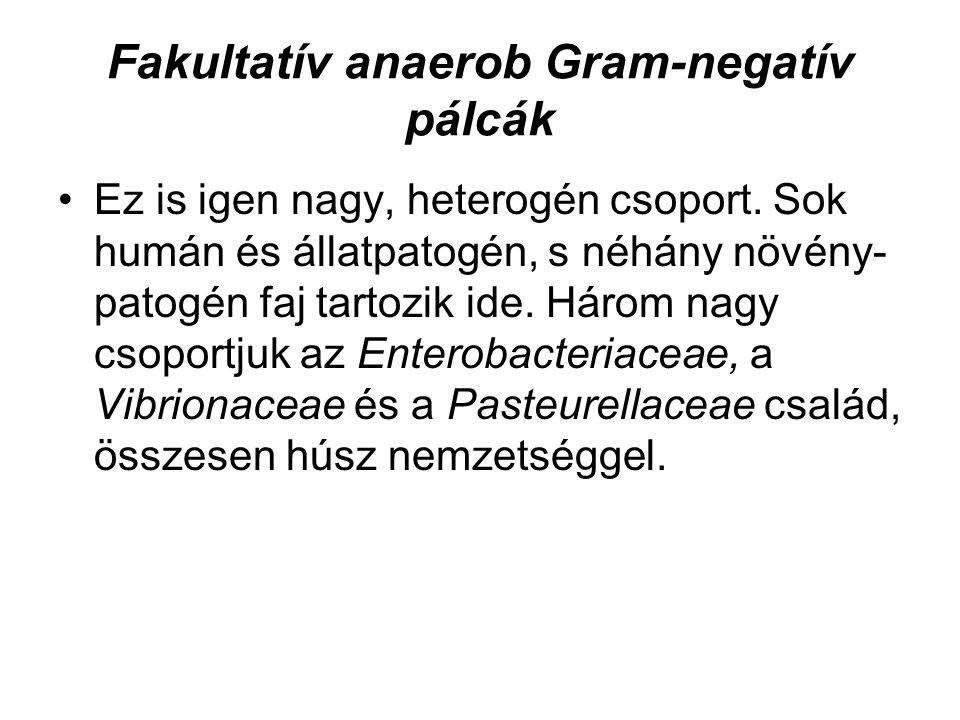 Fakultatív anaerob Gram-negatív pálcák
