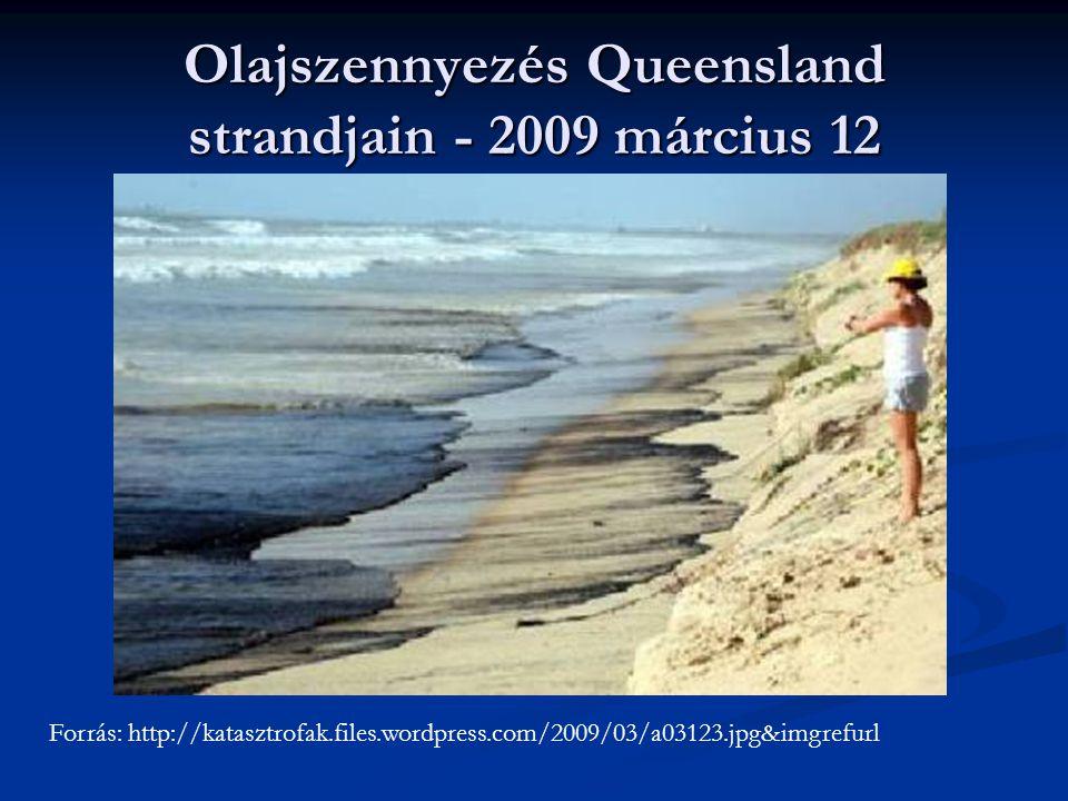 Olajszennyezés Queensland strandjain - 2009 március 12