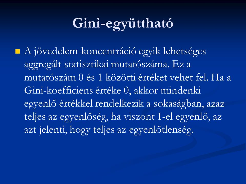 Gini-együttható