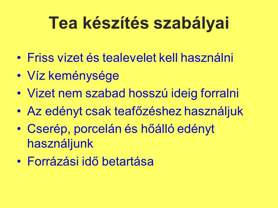 Tea készítés szabályai
