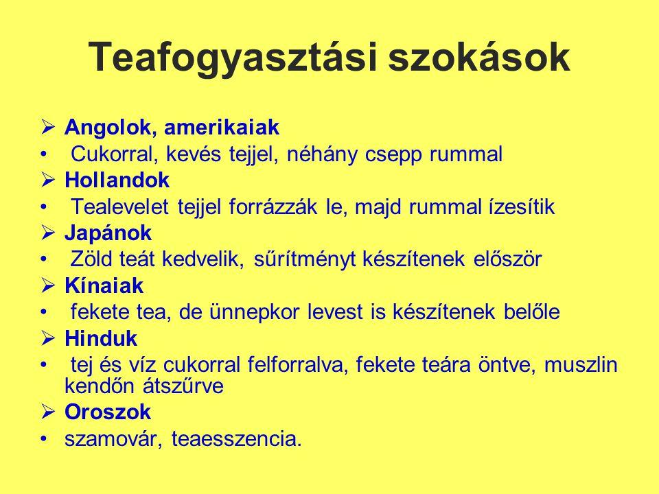 Teafogyasztási szokások