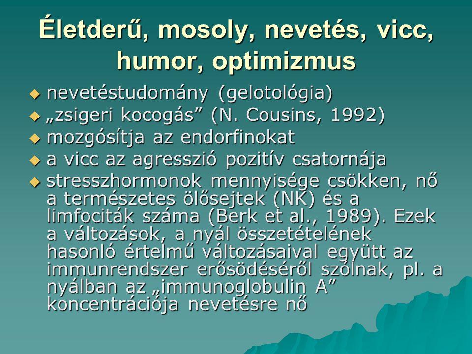 Életderű, mosoly, nevetés, vicc, humor, optimizmus