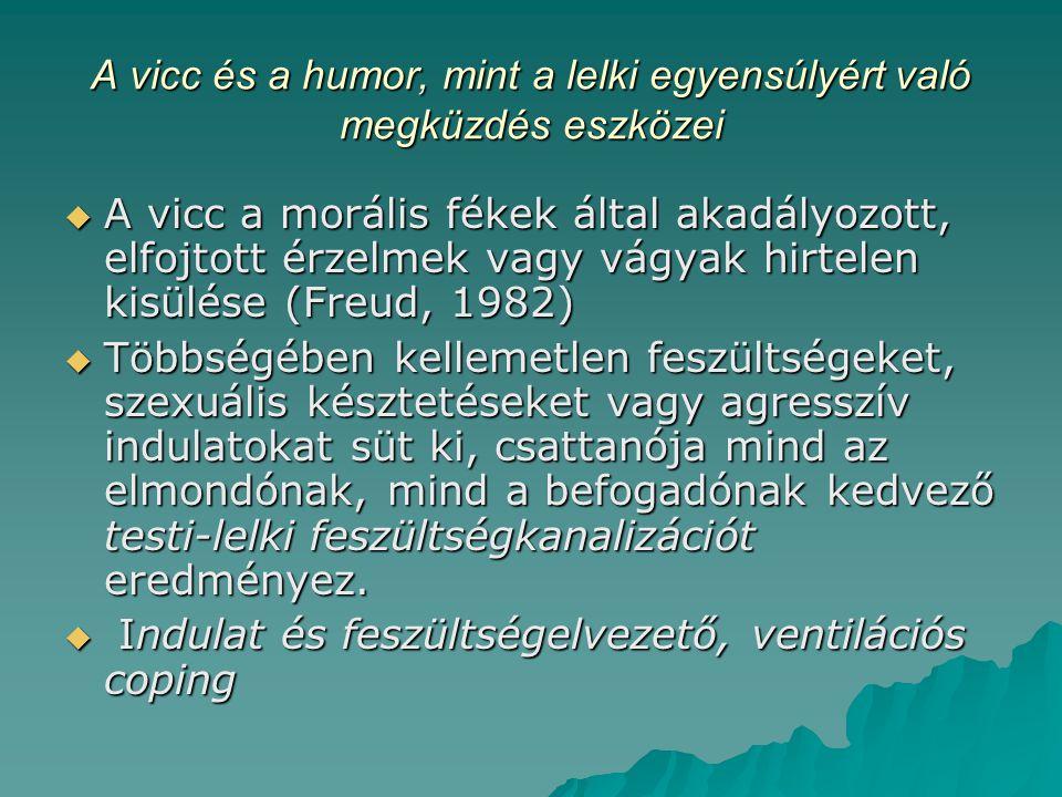 A vicc és a humor, mint a lelki egyensúlyért való megküzdés eszközei