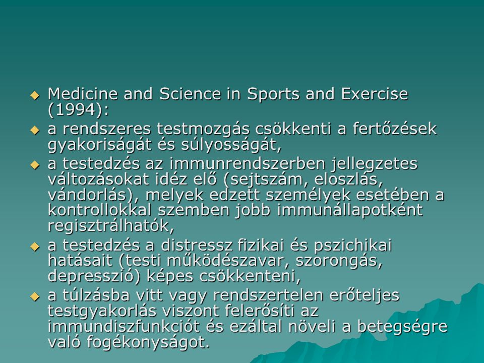 Medicine and Science in Sports and Exercise (1994):
