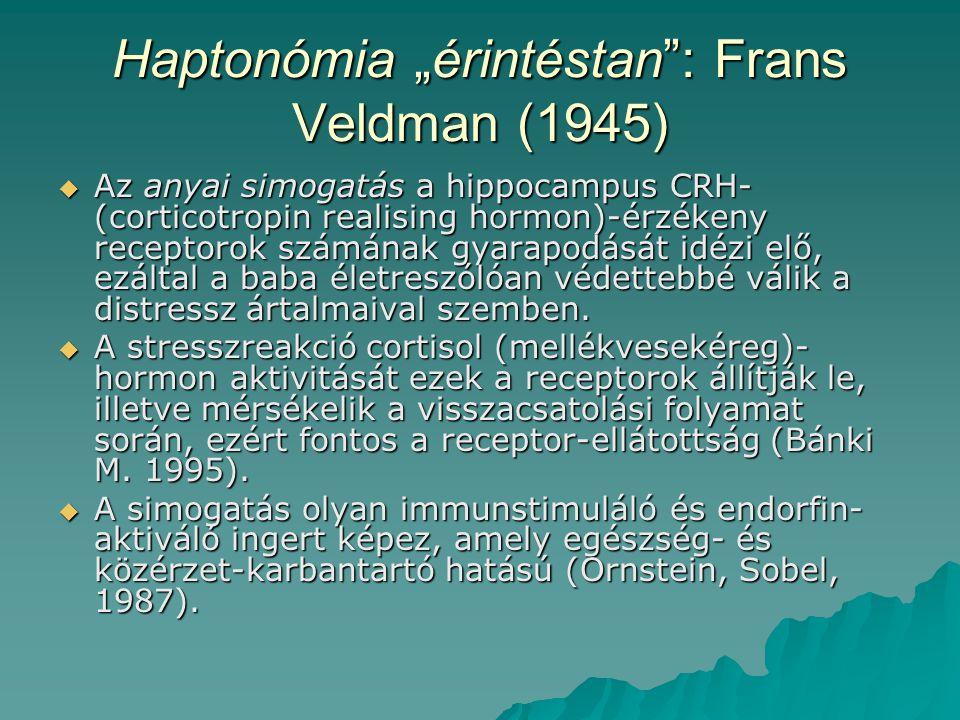 """Haptonómia """"érintéstan : Frans Veldman (1945)"""