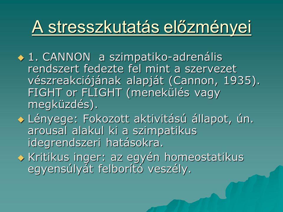 A stresszkutatás előzményei