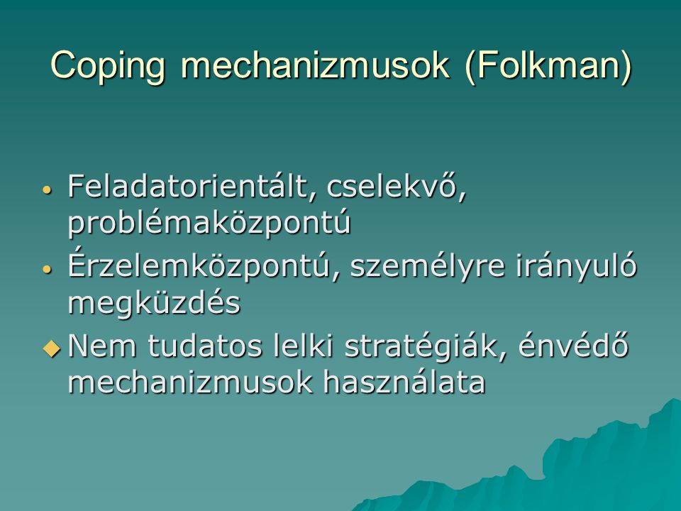 Coping mechanizmusok (Folkman)